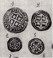 Estampa de monedas falsas. Fuente: AGN