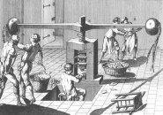 """La prensa de volante en la """"Enciclopedia"""" de Diderot"""