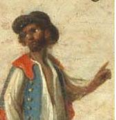 Mulato (fragmento de pintura, Museo Nacional del Virreinato)