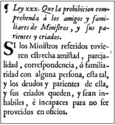 ley xxx, tít III, libro II